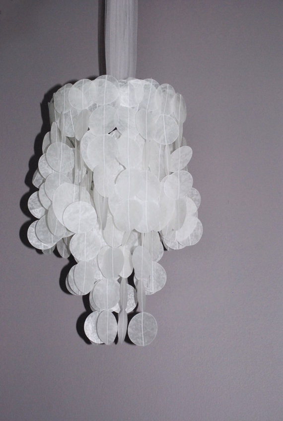 17 best images about wax paper crafts on pinterest paper for Chandelier craft ideas