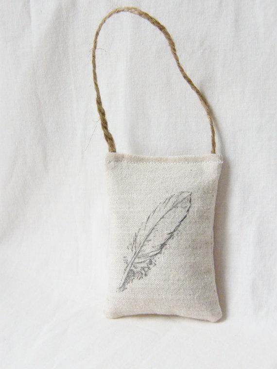 Cute feather lavender sachet