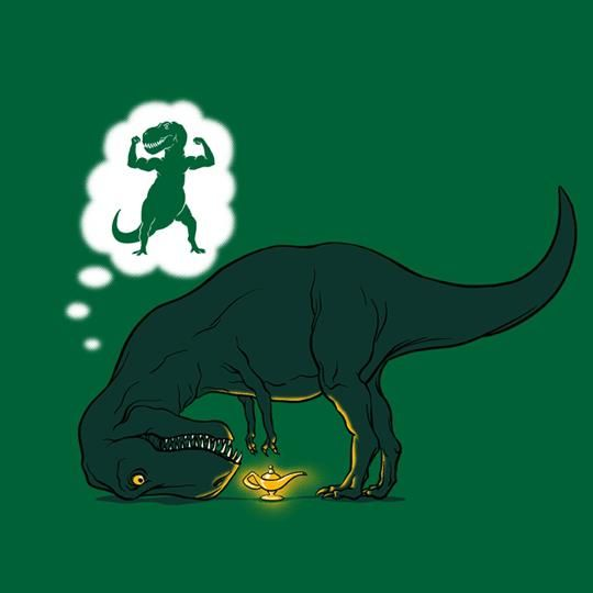 Hahaha. I love T-rexes so much. They might be my favorite animal...