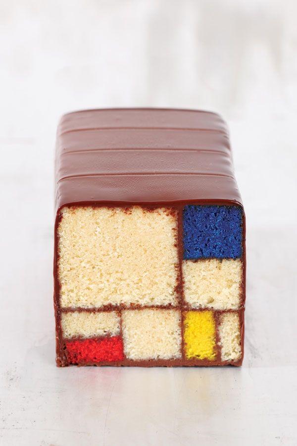 De taarten uit het kookboek Moderne Kunst Desserts van Caitlin Freeman zijn even kunstig als de werken waarop ze geïnspireerd zijn.