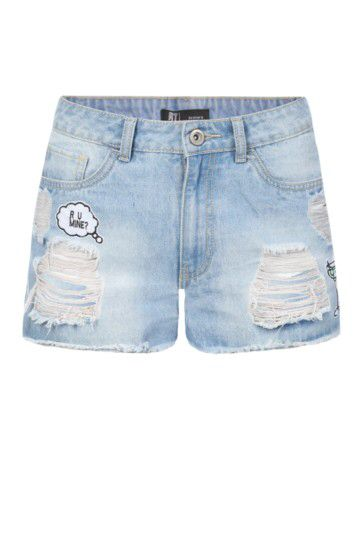 Ripped Patchwork Denim Shorts from Mr Price R99,99