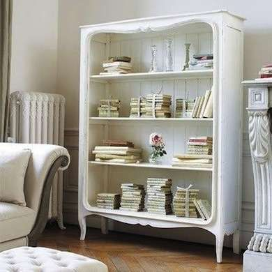 A Bookshelf Made with Two Old Wooden Crutches