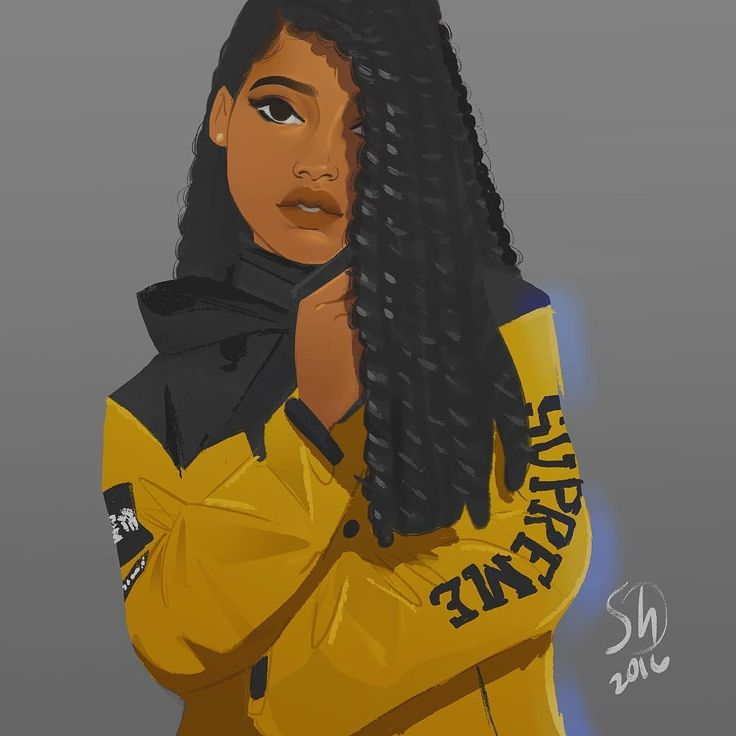 """afrodesiacworldwide: """"  illustration315  """" They got the strawberry girl!  that's dope! I hope she sees this."""
