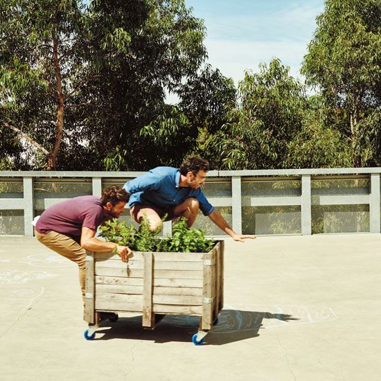 Learn how to turn an old shipping container into a mobile raised planter box!