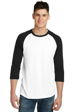 District DT6210 - Young Men's Very Important Tee® 3/4-Sleeve Raglan