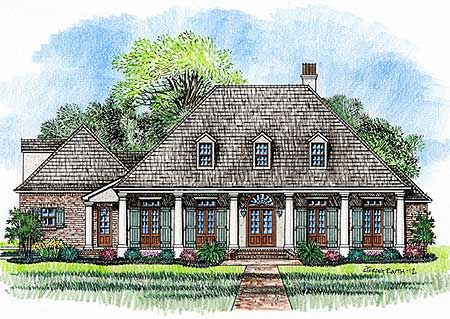 bedroom acadian home plan french house plans acadian house plans