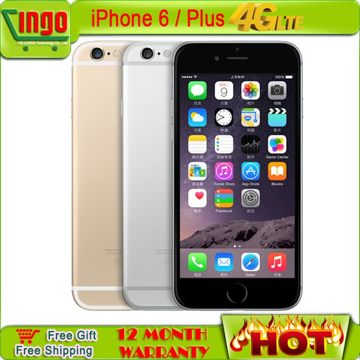 New apple iphone 6 iphone 6 Plus ios8  Cell Phone 4.7 & 5.5 screen phone 8MP/Pixel 2G 3G 4G 16G 64G 128GB Rom 1 year Warranty