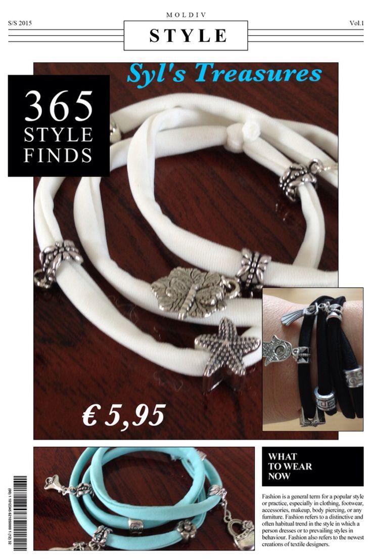 Elastische koord armbanden met leuke kralen en bedels