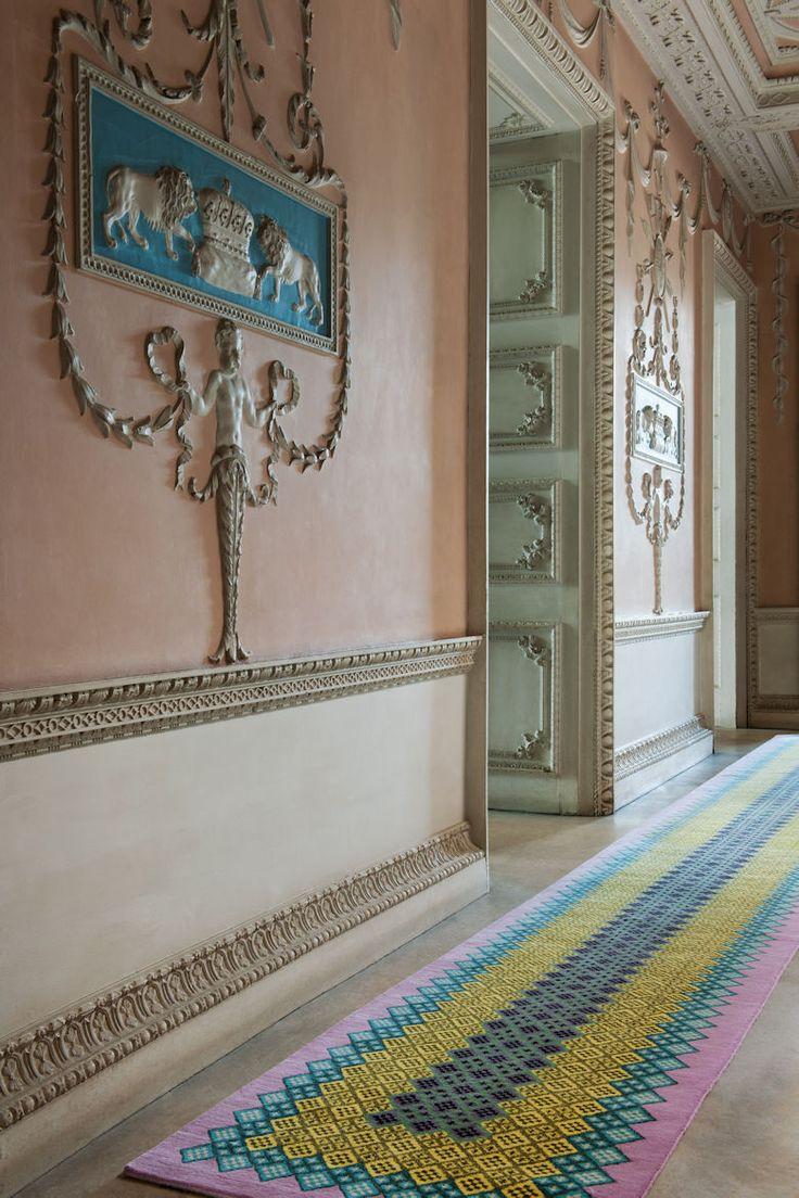 hallway rugs   Jonathan Saunders for The Rug Company Harrington Runner   http://contemporaryrugs.eu/ #colorfulrug #hallwayrugs #contemporaryrugs