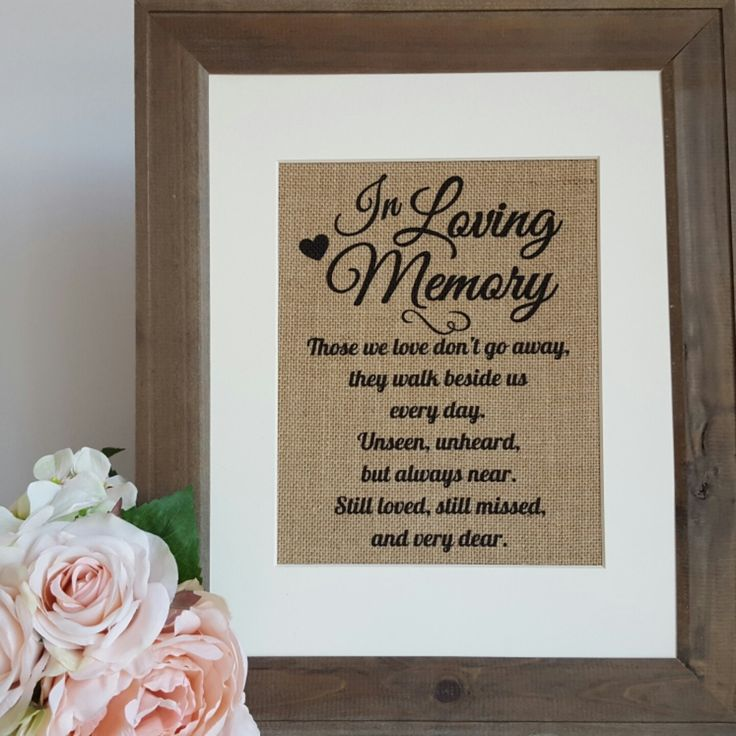 we would like to invite you celebrate our wedding in december0th%0A In Loving Memory Wedding Burlap Print  Wedding Memory Table Burlap Sign   Wedding Remembrance Table  Rustic Wedding Reception Burlap Sign