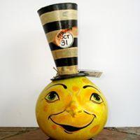 Mr McMoonbeam - Glows in the dark!   Halloween Gourds by Carolyn Reif-Lockwood