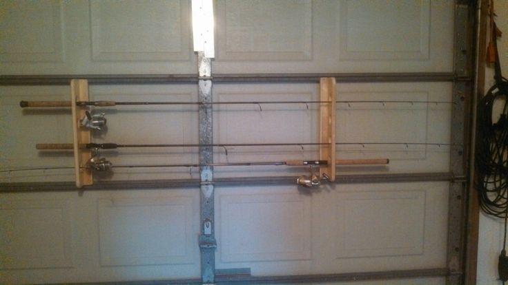 Fishing rod storage on the garage door rod holders for Fishing pole holder for garage
