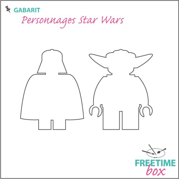 Tuto DIY - Pas à pas - Gabarit personnage star Wars (Dark Vador / Yoda) pour customisation de tee shirt en flock