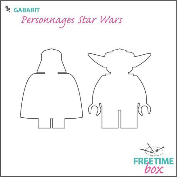 Tuto DIY - Pas à pas - Gabarit personnage star Wars (Dark Vador / Yoda) pour customisation de tee shirt en flock