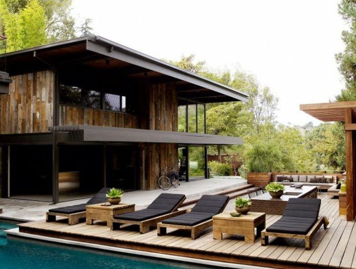 7 best Piscine images on Pinterest Backyard patio, Interiors and - amenagement bord de piscine