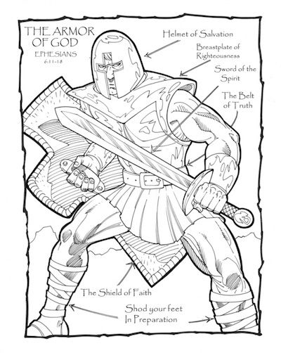 armor of god coloring pages to print - bible coloring sheets and printables for kids teach