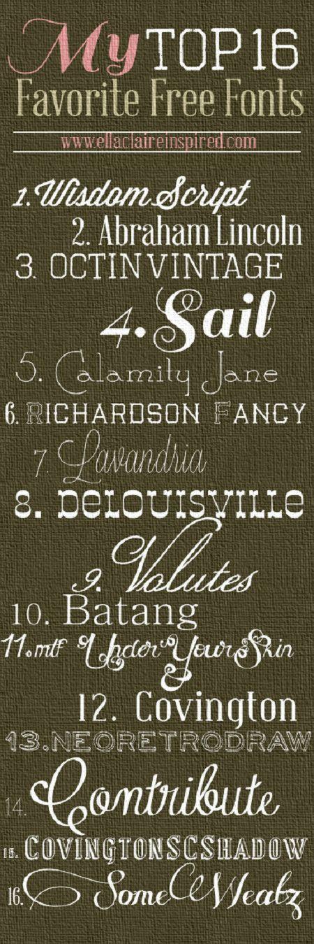 Fonts i like number 3