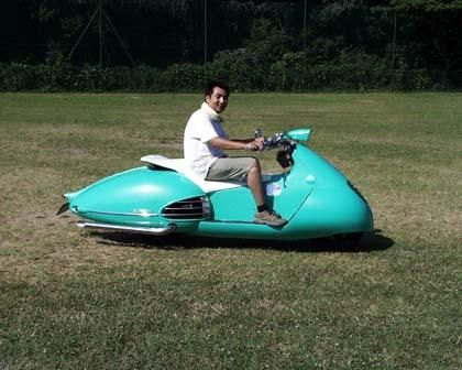 Kybele Cyber Scooter, a modern Japanese custom by Gull Craft.