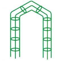 Арка металлическая садовая объемная модель 06 разборная (цвет зеленый h2430*ш1460)