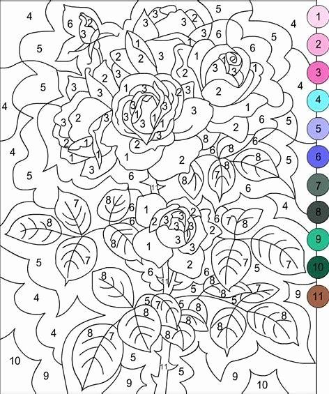 Color by Number Advanced Coloring Pages in 2020 | Coloring ...