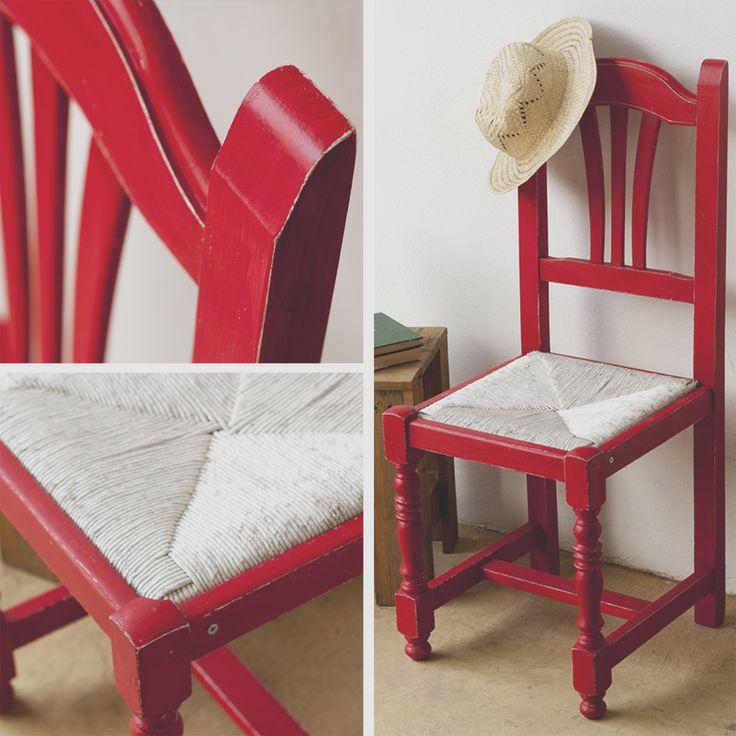 Silla estilo provenzal con asiento de tejido de paja - Sillas estilo provenzal ...