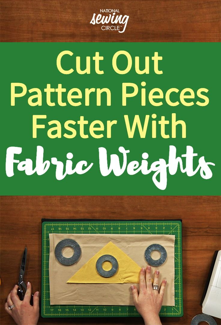 Whether you're working on a project with many pattern pieces or just a few, you can save time with pattern weights. Pattern weights can be used in place of pins to hold a pattern piece on top of your fabric while cutting it out. Not only is it easier to simply place a weight on the fabric rather than insert a pin, but you can save your finger tips from pricks as well!