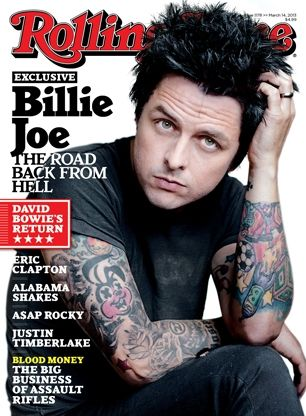 Green Day's Billie Joe Armstrong on the March 14, 2013 cover.