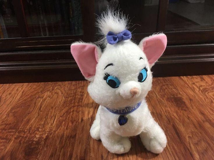 "Disney Store Aristocats MARIE September Birthday Kitten 8"" Plush Cat w/ Bows #Disney"