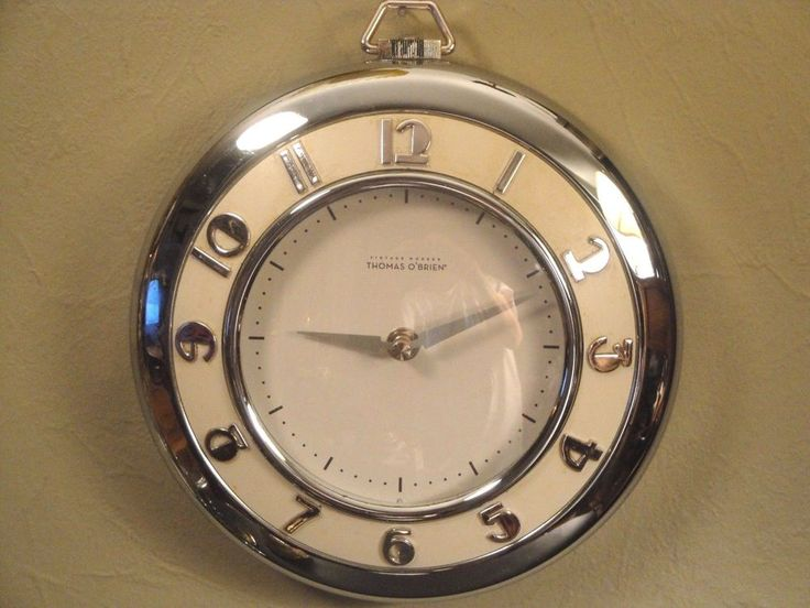 "Vintage Modern 1950s Art Deco Modern Thomas O'Brien Clock 9"" Diameter #ArtDeco #ThomasOBrien"