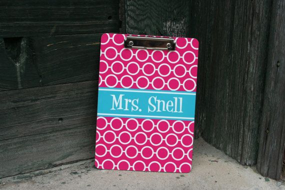 PERSONALIZED CLIP BOARD  - Coach, Teacher, Executive, Office stationary