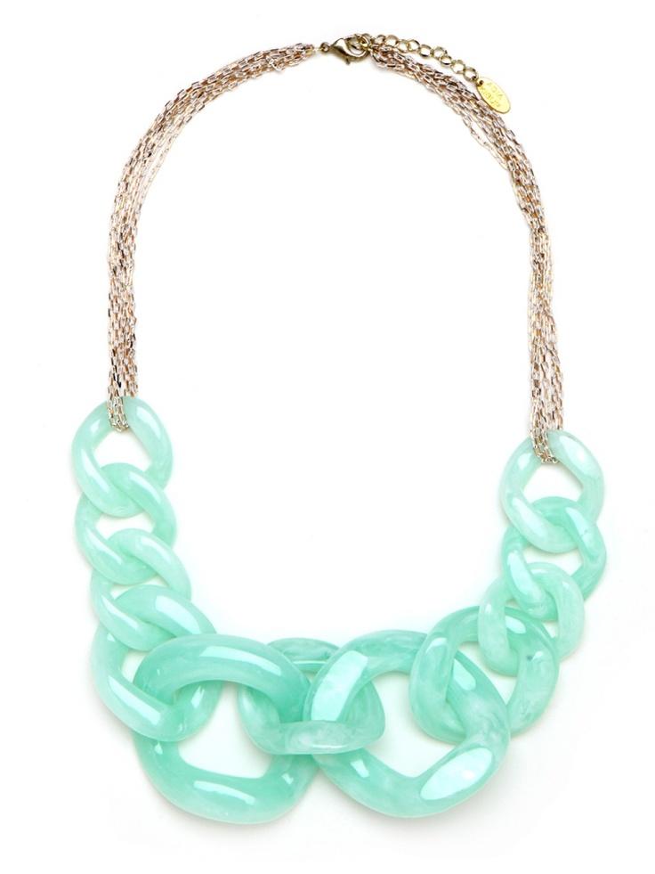 Sea-Foam Cable Necklace: Fashion, Statement Necklaces, Style, Color, Chain Necklaces