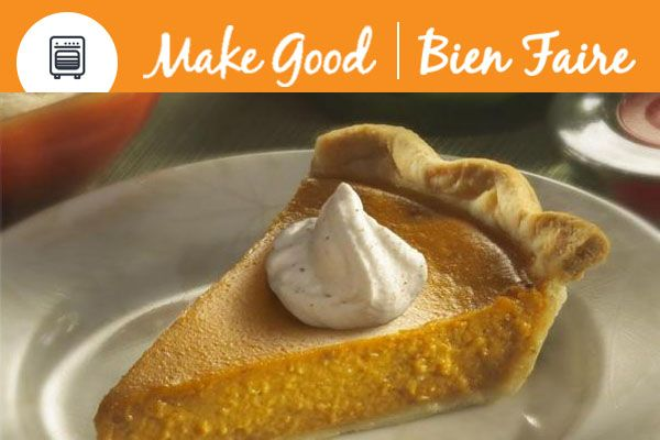 Classic Pumpkin Pie with | Make this recipe ahead of time to save time on Thanksgiving Day – Just warm before serving. #MakeGoodDessert #Thanksgiving #Pumpkin #pumpkinspice #pumpkinpie #baking