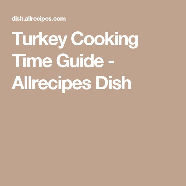 Turkey Cooking Time Guide - Allrecipes Dish