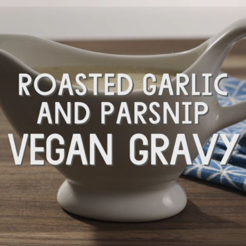 Roasted Garlic and Parsnip Vegan Gravy // This unusual gravy gets wonderful depth of flavor and natural sweetness from roasted garlic and parsnip. You can prepare it up to three days ahead, refrigerate it and reheat it just before serving.
