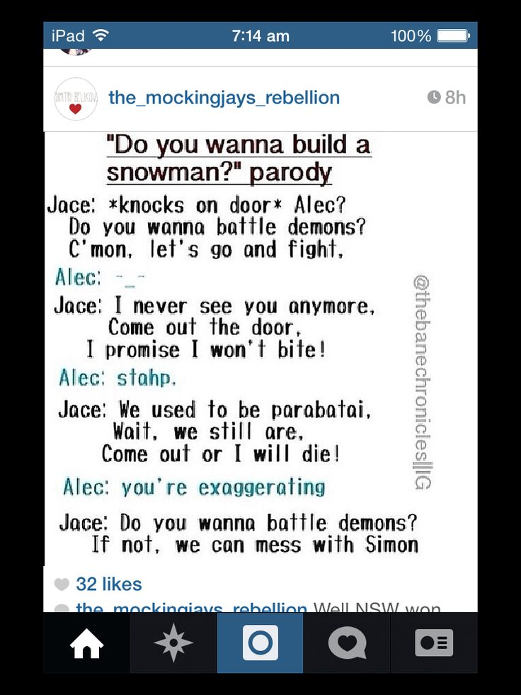 Do you wanna battle demons?? HAHAHAHA jace singing 'do you want to build a snowman' parody to alec.