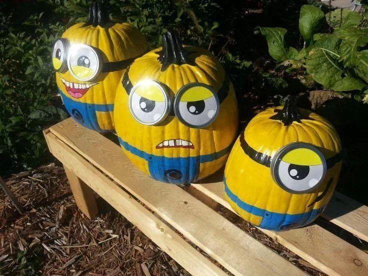 Minions pumpkins #zucca #Halloween #Despicableme