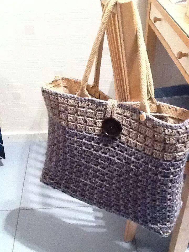 crochet tote inspiration (ah tas gemaakt door Linda van der Valk)