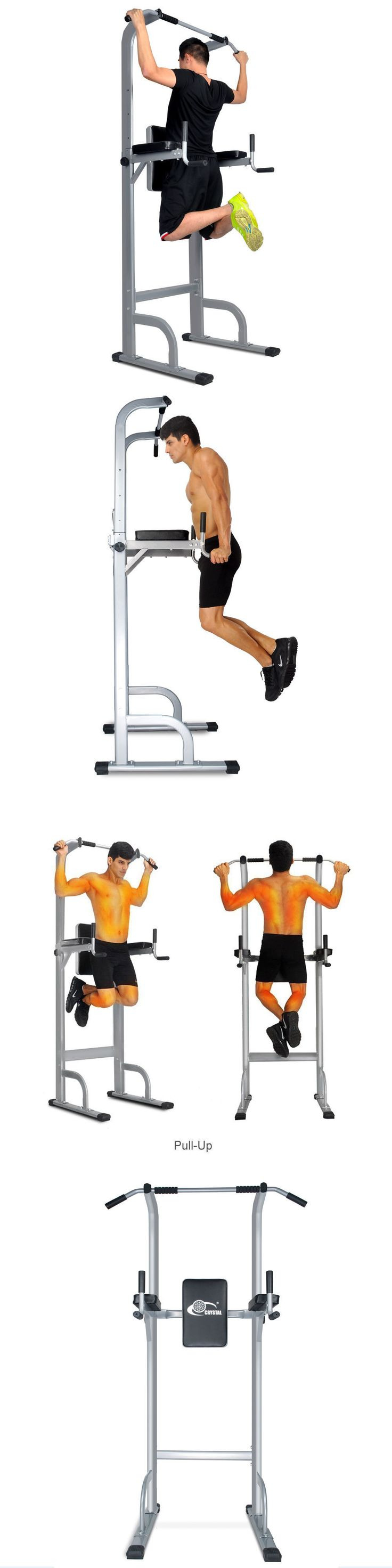 Pull Up Bars 179816: Power Tower Strength Training Fitness Equipment Pull Up Bar Standing Tower Gym -> BUY IT NOW ONLY: $119.9 on eBay!