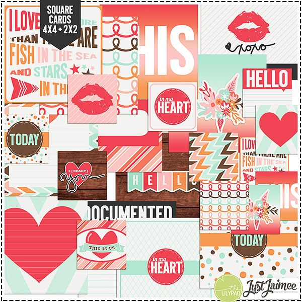 Storyteller February 2014 Square Journal Cards by Just Jaimee at The Lilypad