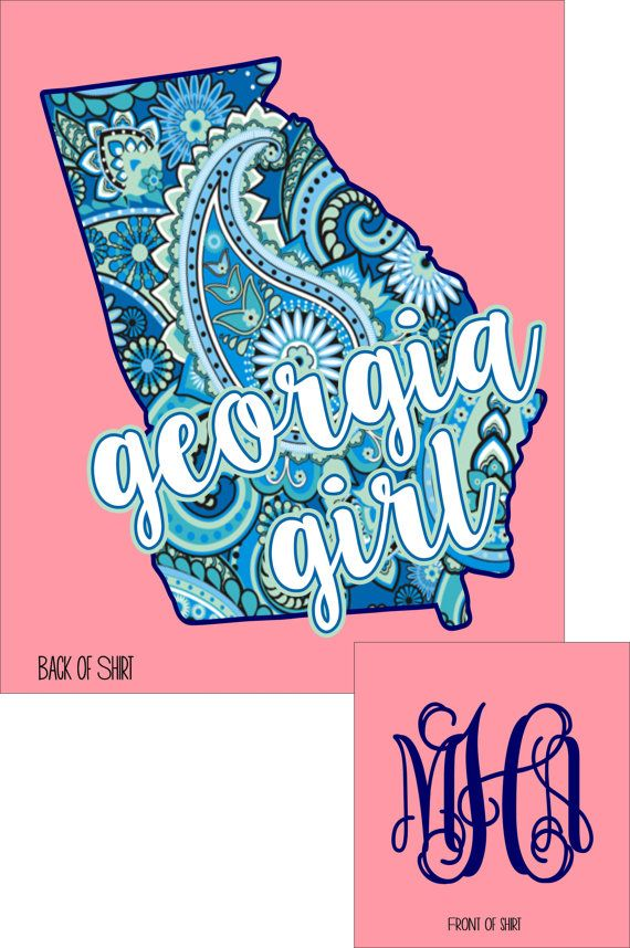 Georgia Girl Southern State Monogram Comfort by HeadSouthApparel
