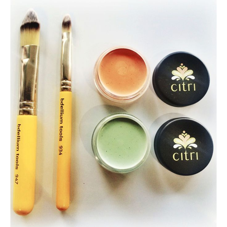 CITRI CONCEALER. If you need to conceal or correct a blemish or imperfection Citri mineral cosmetics have the perfect natural correctors and concealers.  Green (03) corrects redness and blemishes.  Apricot (04) is a all purpose corrector.
