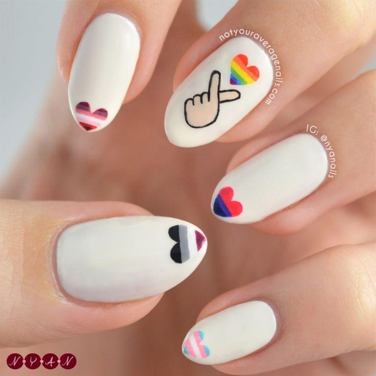 #PrideMonth Nail Art ❤️ Nail Art #nailrepair