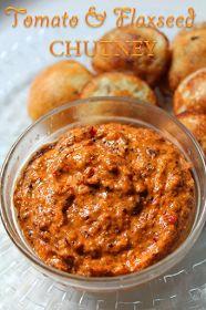 Tomato and Flaxseed Chutney Recipe