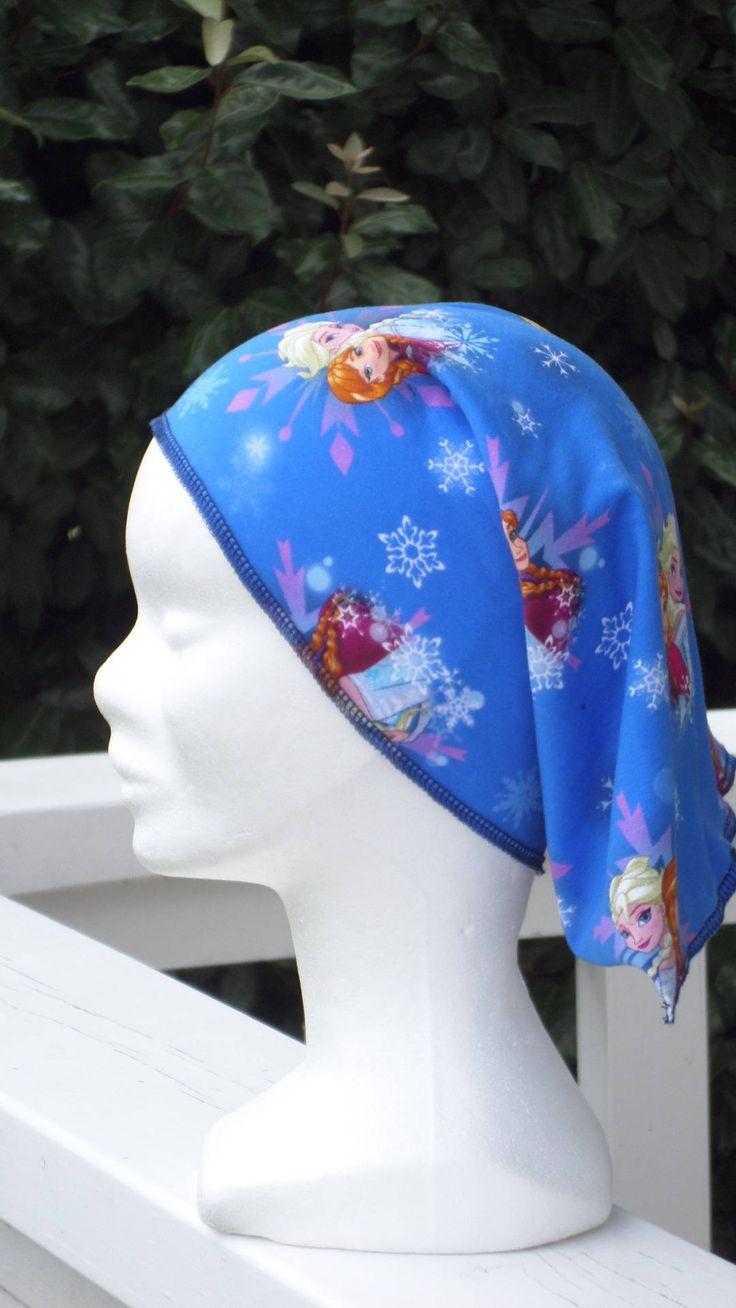 foulard bandanas éte enfant  fille coton créateur lin'eva Reine des neiges de la boutique LESIDEESDELINEVA sur Etsy