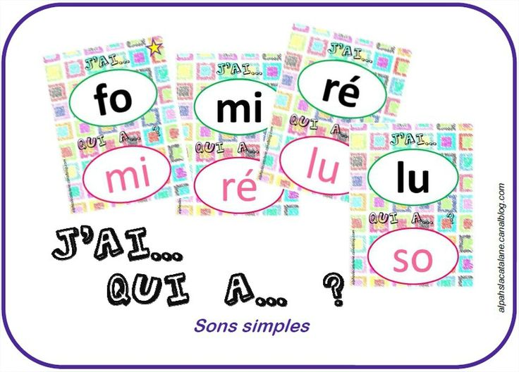 J'ai ... Qui a ... ? syllabes - La catalane
