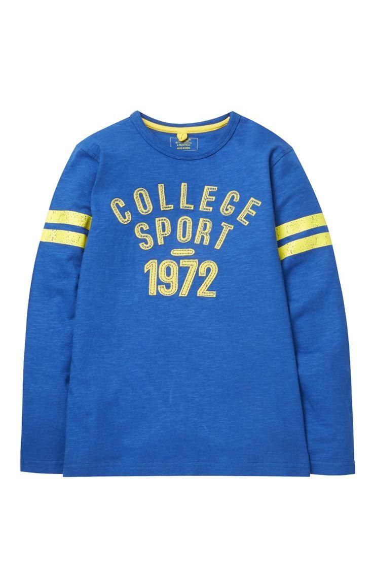 Pull College Sport bleu