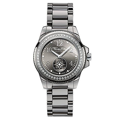 Montre Femme Thomas Sabo WA0160-259-206-33mm Price:     GLAM CHIC Full Ceramic TitaniumExtravagante et expressive - le look métallique de cette montre tout en cé...