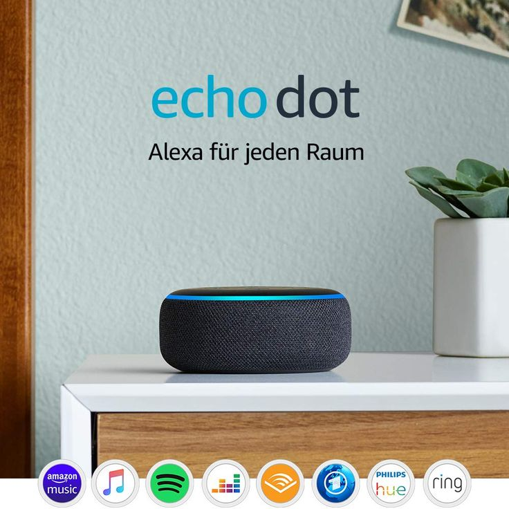 Echo Dot 3 Gen Intelligenter Lautsprecher Mit Alexa Anthrazit Stoff In 2020 Lautsprecher Valentinstag Geschenk Fur Ihn Amazon Echo