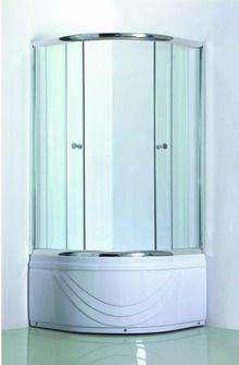Gloria Delta 90x90x200 Μπανιέρα Ακρυλική Mε Καμπίνα Κρύσταλλο (90-3102) <br /> <br />Μπανιέρα ακρυλική γωνιακή 90x90x200 με μετώπ�...