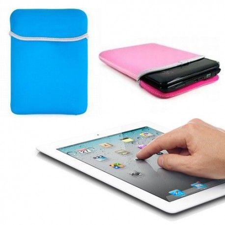 iPad 2 ve iPad 3 uyumlu, çift yönlü olarak kullanılabilen mavi ve pembe renklere sahip, üstün koruma sağlayan tablet kılıfı.